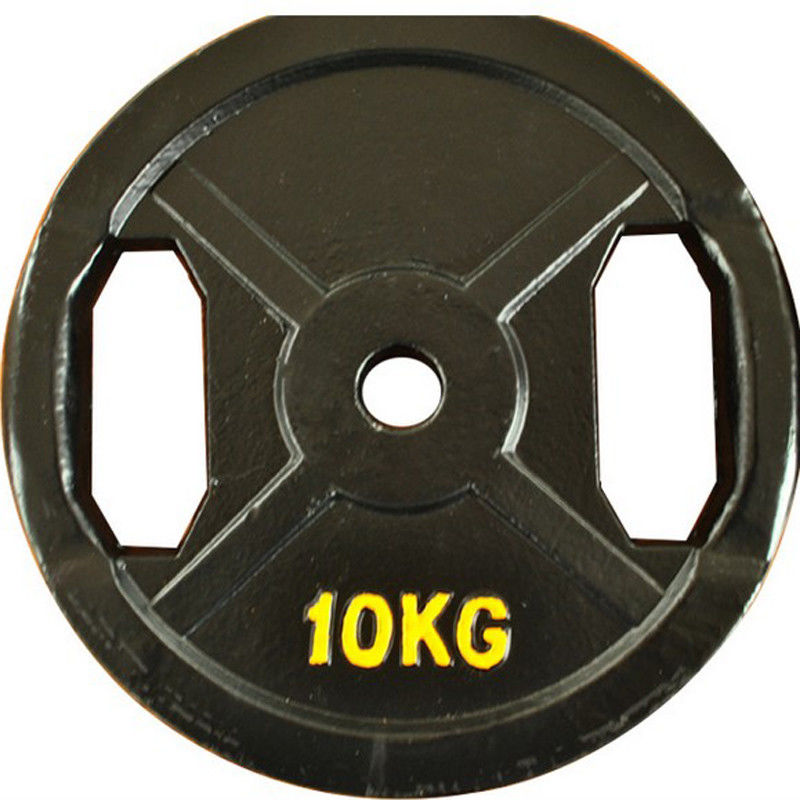 Exercise Metal Weight Plates / Olympic Lifting Plates For Bodybuilding