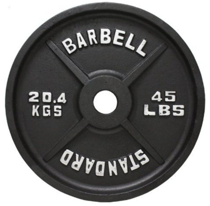 Olympics Flanged 45 LB Iron Weight Plates , Standard Olympic Weight Plates